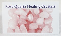 Rose quartz healing crystals properties card front
