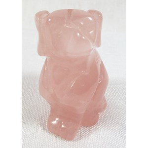Rose Quartz Dog (Medium)